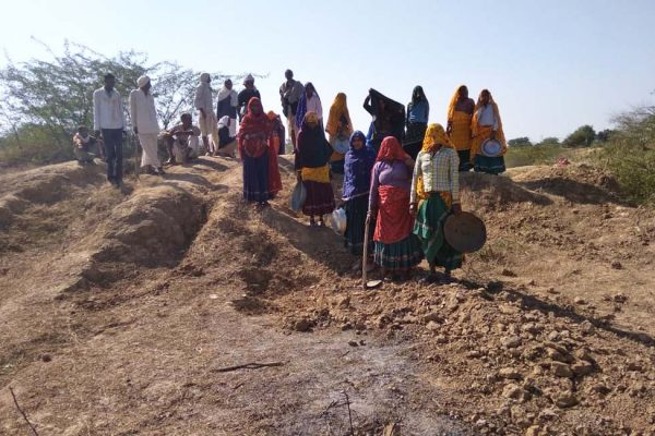 Constructing a New Reservoir Pond in Rajasthan