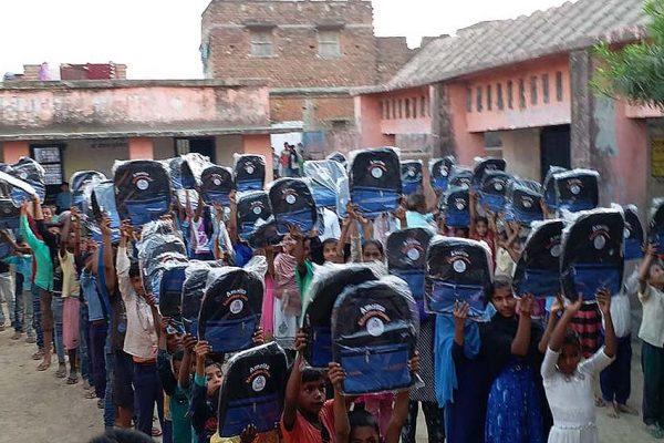 School bag distribution in Bihar
